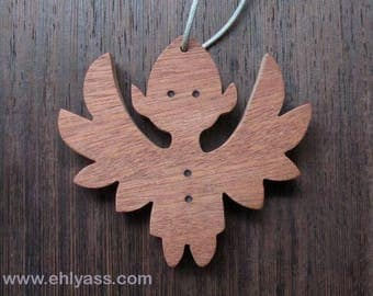 Hanging Christmas Angel 2 solid wood made fretwork