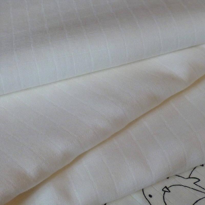 lange pour b b uni blanc cass nature en mousseline de. Black Bedroom Furniture Sets. Home Design Ideas