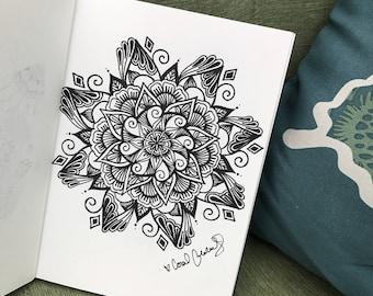 Black mandala | hand drawn