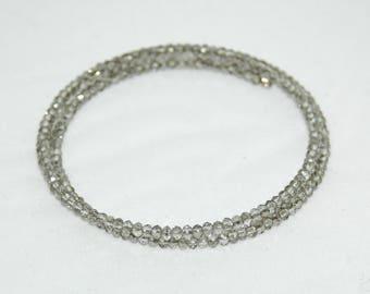 Bracelet shape memory wire Crystal beads