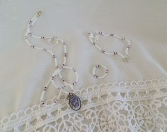 Seed beaded jewelry sets