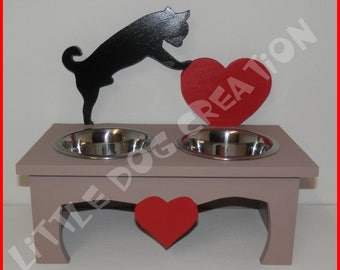 Dog bowls stand