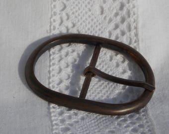 Boucle de ceinture en métal couleur bronze vieilli pour ceinture 3,9 cm ou 39 mm