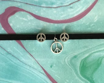 Peace Sign Charm Planner Band