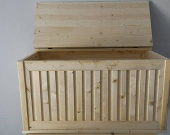 Wood storage chest