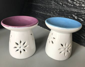 Burner ceramic flowers