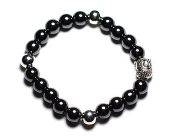 Buddha and gemstone - Hematite bracelet