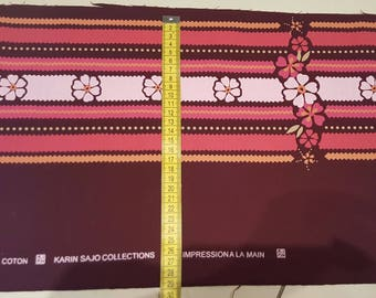 Fat quarter cotton Karin Sajo 100 x 25 cm