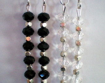 Dangling earrings - Crystal beads - 7 cms approx: 8-10