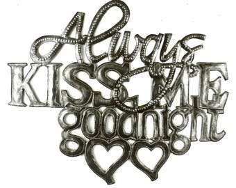 Kiss Me Goodnight Metal Wall Art