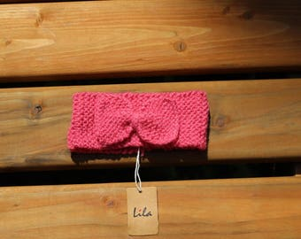 Baby and girls head band with bow, Pink head band with bow. Bow head band, Baby accessory, Baby bows