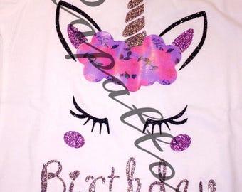 UNICORN Birthday Shirt