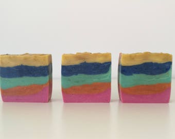 Fruit Fusion // Rainbow soap // cold processed soap // handcrafted // artisan soap // gifts for kids // birthday // bridal shower // favours