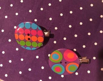 Dot Button Hair Clip