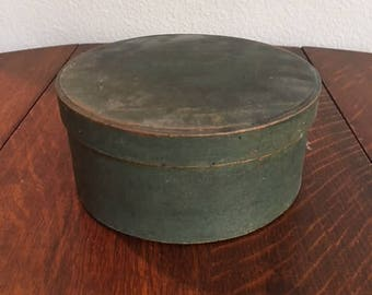 Antique Painted Wooden Pantry Box, Marked J.L.Lane on Lid and Bottom