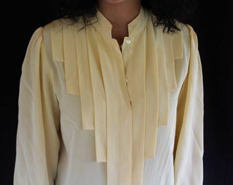 50% off! pale yellow silk top