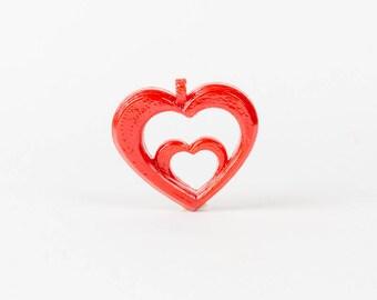 """Double Heart"" pendant 3d printed"