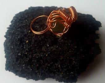 Black onyx crystal ring