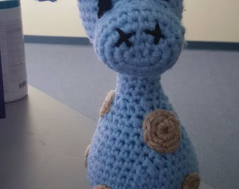 Giraffe (baby blue & tan)