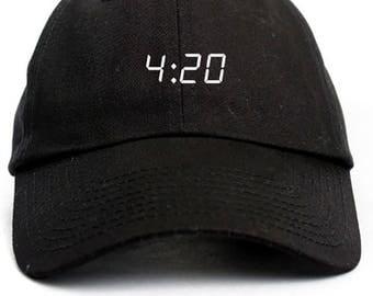 420 Dad Hat Adjustable Baseball Cap New - Black
