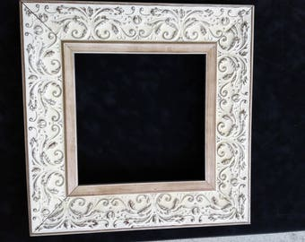 Antiqued High-End Frame Off White and Brown