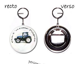 bottle opener Keychain 58mm tractor we love you Grandpa