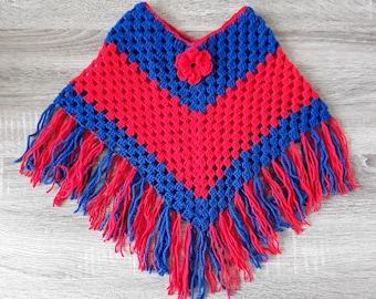 Baby poncho crochet 18 month