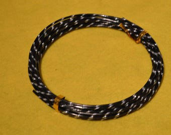 Zebra black and grey 2 mm aluminum wire