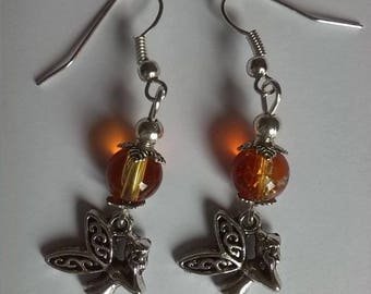 Fairy and bead earrings