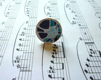 Mosaic blue ring