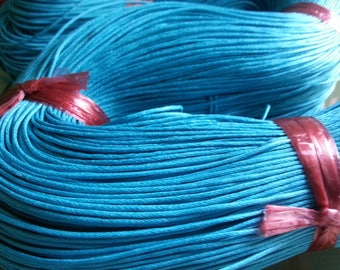 1 meter of Cotton thread, turquoise, 1 mm in diameter