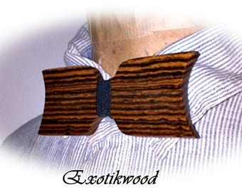 Bow tie wooden Bocote from Mexico
