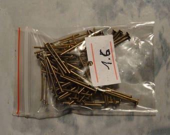 30 short posts nails 1.6 cm bronze head punt