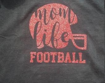 Personalized Mom Life football Tee