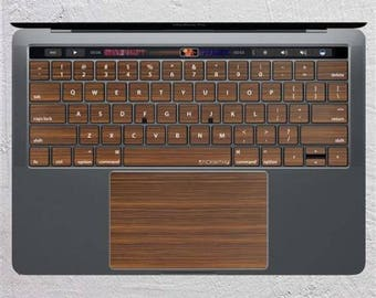 Wood MacBook Keyboard Sticker Wooden Texture Keypad Decal Skin Pattern