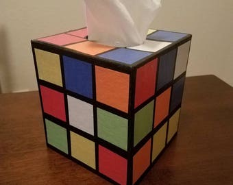 the original best selling rubik 39 s cube tissue box cover. Black Bedroom Furniture Sets. Home Design Ideas