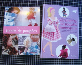 Set of 2 books - sewing - clothes for dolls