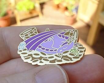 Purple Dragon Pin / Dragon Badge / Dragon Enamel Pin / Purple Enamel Pin / Pastel Pin / Cute Pin / Dragon Lapel Pin