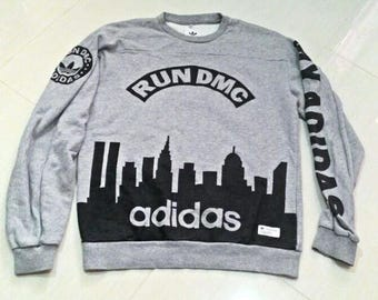 Vintage Adidas Run DMC Sweatshirts Hip Hop Rap Rare
