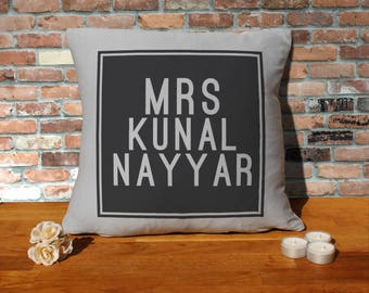Kunal Nayyar Pillow Cushion - 16x16in - Grey