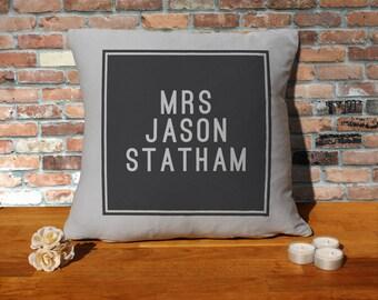Jason Statham Pillow Cushion - 16x16in - Grey