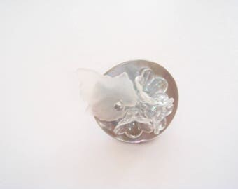 button Pearl spring ring