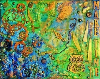 Make Time-Mixed Media Canvas
