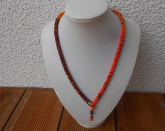 """Elisa"" crocheted necklace with seed beads"
