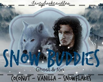 Bookcandle-Game of Thrones-Jon Snow-soy candle-handmade