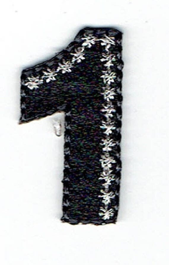 """Patch fusible trend pattern """"number 1"""""""