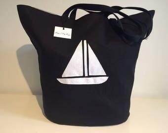 Beach tropical pattern sailboat bag