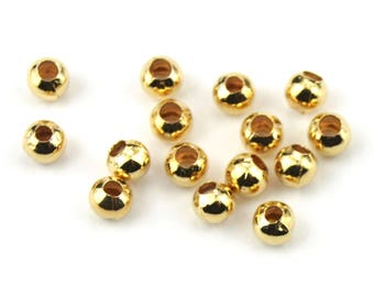 ES-1213 18KGP Gold Plated 750 ‰ - Set of 10 Spacer beads