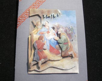 105 - Christmas crib 3d greeting card