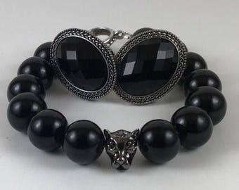 Cufflinks Bracelet Set